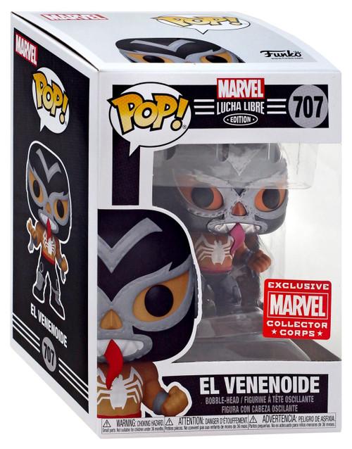 Funko Luchadores POP! Marvel El Venonoide Exclusive Vinyl Figure #707 [Venom, Collector Corps]