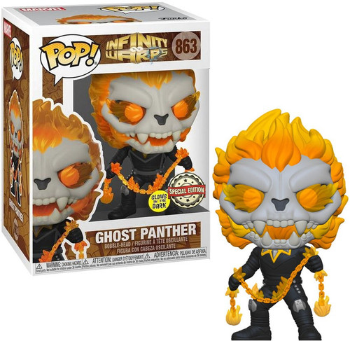 Funko Marvel Infinity Warps POP! Ghost Panther Exclusive Vinyl Figure [w/ Chain] (Pre-Order ships April)