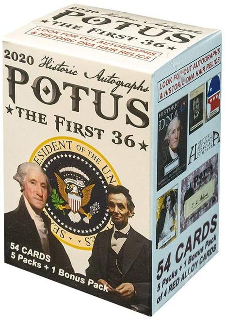 POTUS The First 36 Trading Card BLASTER Box [5 Packs + 1 Bonus Pack]