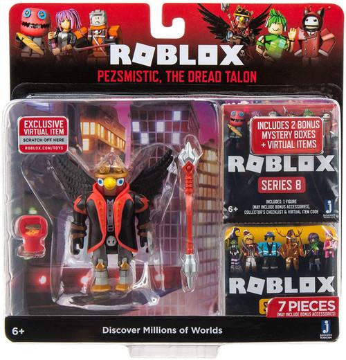 Roblox Pezsmistic, The Dread Talon Action Figure [2 Bonus Mystery Packs!]