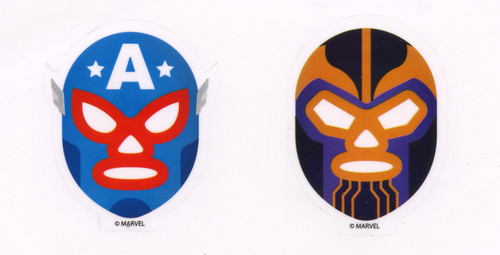 Funko Marvel Luchadores Captain America and Thanos Exclusive 3-Inch Sticker