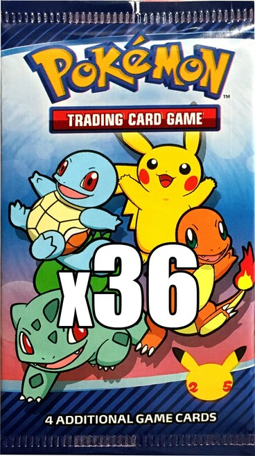 Pokemon Trading Card Game McDonald's Happy Meal 25th Anniversary LOT of 36 Promo Booster Packs [Equivalent of a Box]