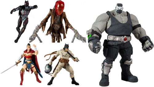 McFarlane Toys DC Multiverse Build Bane Series Batman, Wonder Woman, Scarecrow & Omega Set of 4 Action Figures [Last Knight on Earth]