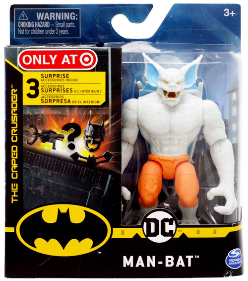 DC Batman The Caped Crusader Man-Bat Exclusive Action Figure [White]