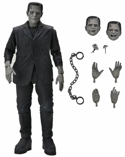 NECA Universal Monsters Frankenstein's Monster Action Figure [Ultimate Version, Black & White] (Pre-Order ships July)