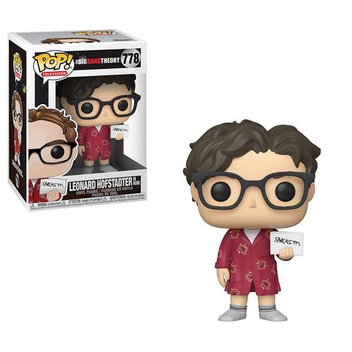 Funko The Big Bang Theory POP! TV Leonard Hofstadter Vinyl Figure #778 [in Robe, Damaged Package]