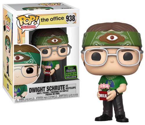 Funko The Office POP! TV Dwight Schrute Exclusive Vinyl Figure #938 [Recyclops, Damaged Package]