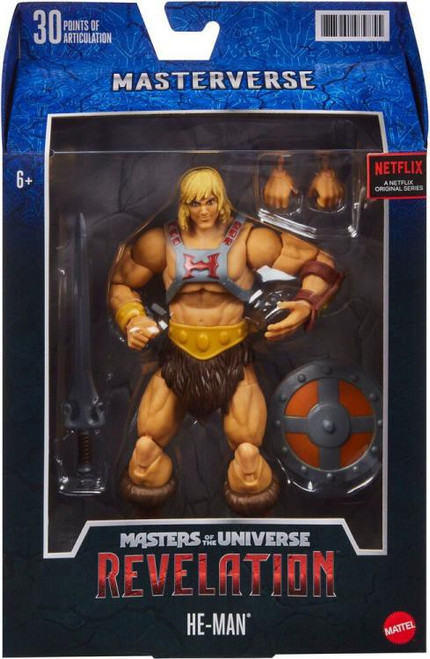 Masters of the Universe Revelation Masterverse Wave 1 He-Man Action Figure [Netflix, Classic] (Pre-Order ships October)