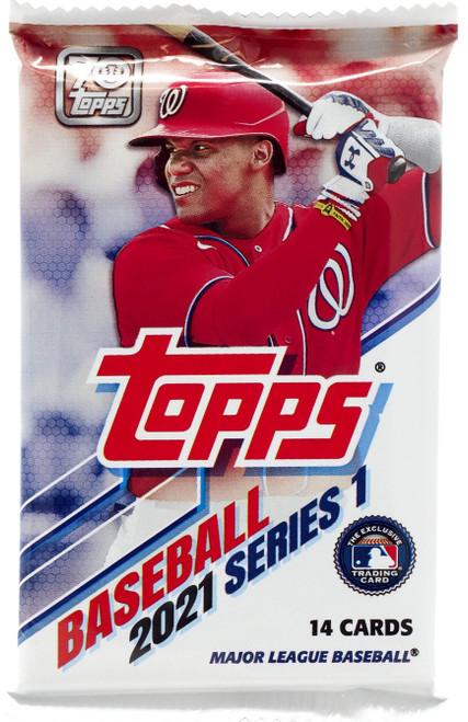 MLB Topps 2021 Series 1 Baseball Trading Card Pack [14 Cards]