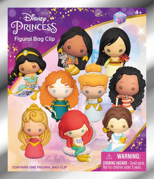 Disney Princess 3D Figural Keyring Disney Ultimate Princess Celebration Series Mystery Box [1 RANDOM Figure] (Pre-Order ships June)