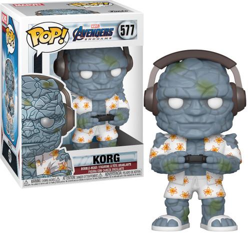 Funko Avengers Endgame POP! Marvel Gamer Korg Vinyl Bobble Head [Damaged Package]