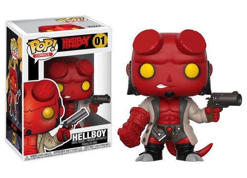Funko POP! Comics Hellboy Vinyl Figure #01 [No Horns, Regular Version, Damaged Package]