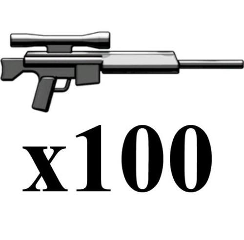 BrickArms Lot of 100 PSR Precision Sniper Rifles 2.5-Inch [Black]