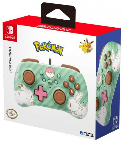 Nintendo Switch Pokemon Horipad Mini Video Game Controller [Pikachu & Eevee]