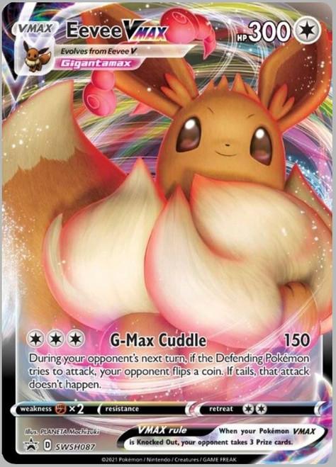 Pokemon Trading Card Game Sword & Shield Eevee VMAX Ultra Rare Single Promo Card SWSH087 [Sealed]