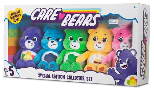 Care Bears Cheer Bear, Grumpy Bear, Funshine Bear, Good Luck Bear & Harmony Bear Exclusive 9-Inch Plush Set