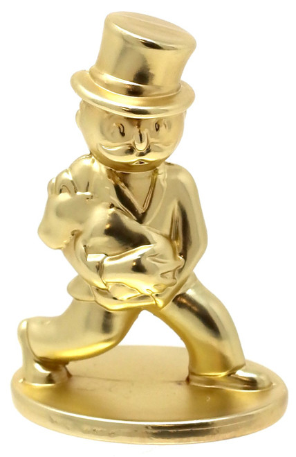 Surprise Exclusive Collectible Tokens Mr. Monopoly with Puppy Token [Gold Loose]
