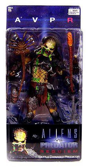 NECA Alien vs Predator AVP Requiem Series 4 Battle Damaged Predator Action Figure [Unmasked Wolf, Loose]