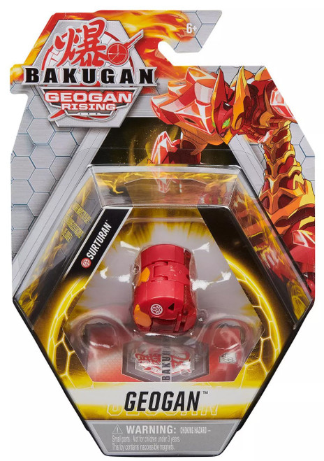 Bakugan Geogan Rising Surturan Single Figure & Trading Card
