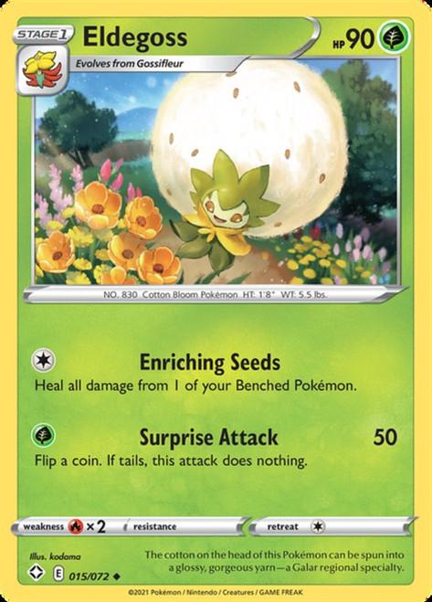 Pokemon Shining Fates Uncommon Eldegoss #15