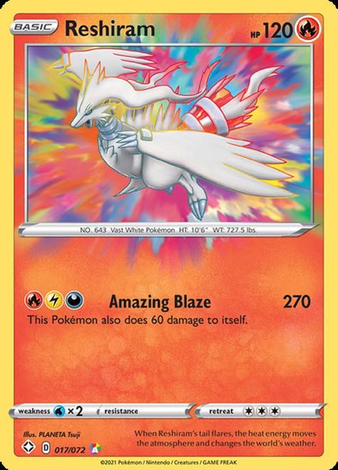 Pokemon Shining Fates Amazing Rare Reshiram #17