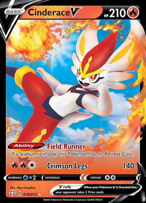 Pokemon Shining Fates Ultra Rare Cinderace V #18