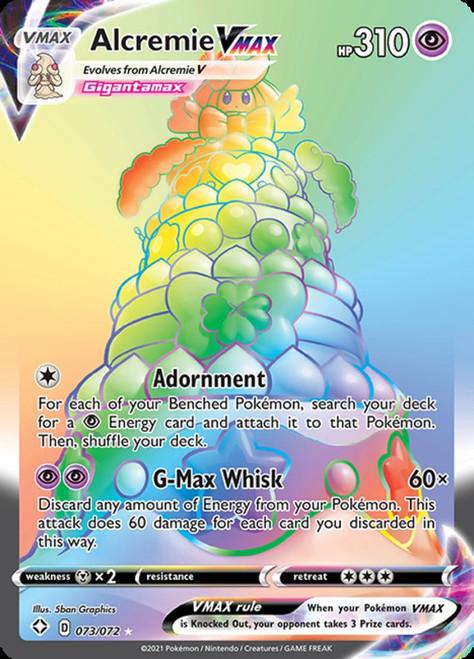 Pokemon Shining Fates Secret Rare Alcremie VMAX #73