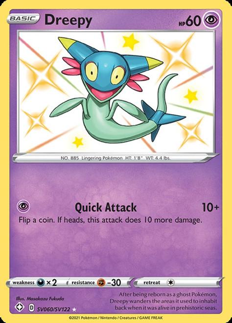 Pokemon Shining Fates Shiny Rare Dreepy SV060