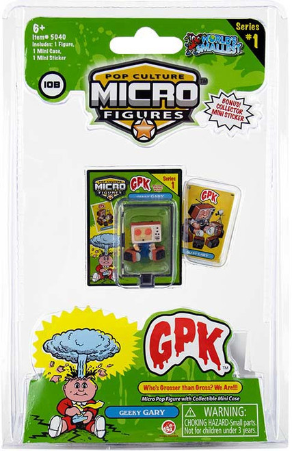 World's Smallest Garbage Pail Kids Series 1 Geeky Gary Action Figure