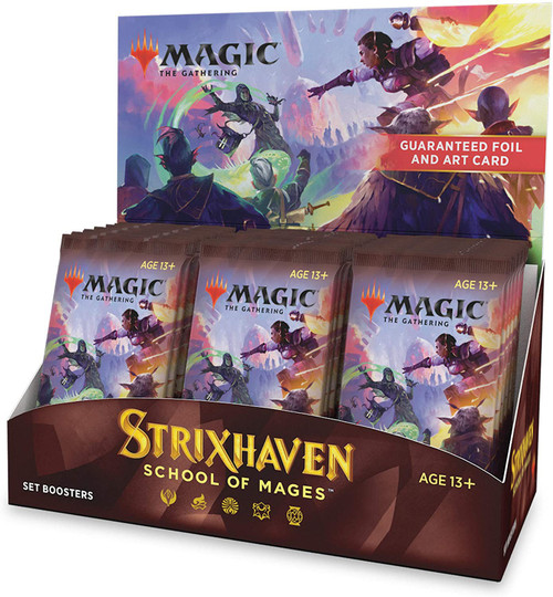 MtG Trading Card Game Strixhaven: School of Mages SET Booster Box [30 Packs]