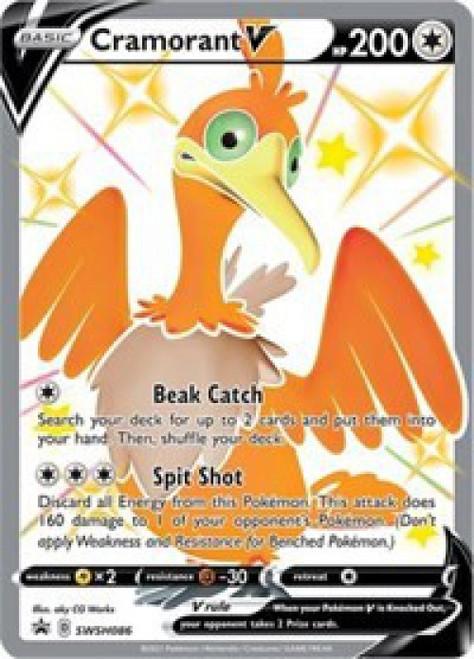Pokemon Sword & Shield Promo Ultra Rare Cramorant V SWSH086