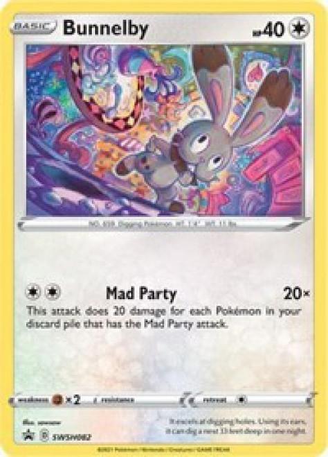 Pokemon Sword & Shield Promo Holo Rare Bunnelby SWSH082