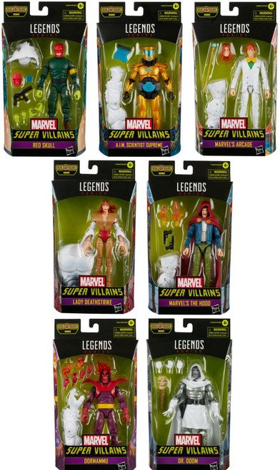 Super Villains Marvel Legends Xemnu Series Set of 7 Action Figures
