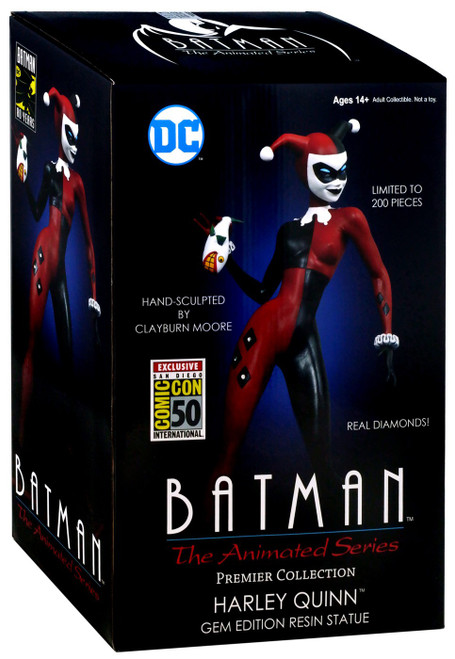 Batman The Animated Series Premier Collection Harley Quinn Exclusive 12-Inch Statue [Holding Fish]