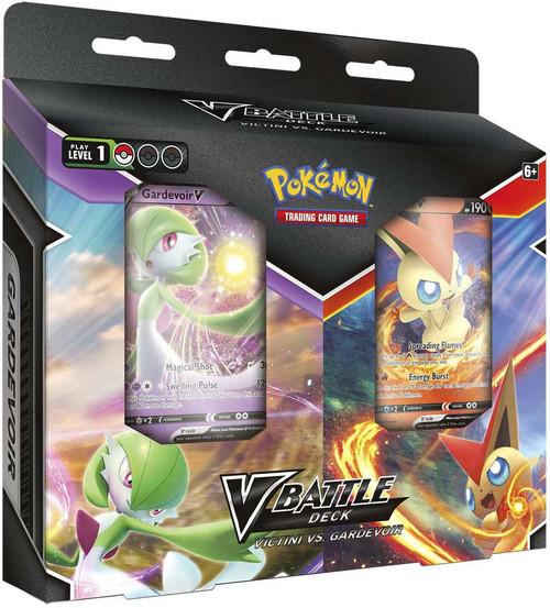 Pokemon Trading Card Game Victini V & Gardevoir V Battle Deck Bundle (Pre-Order ships May)