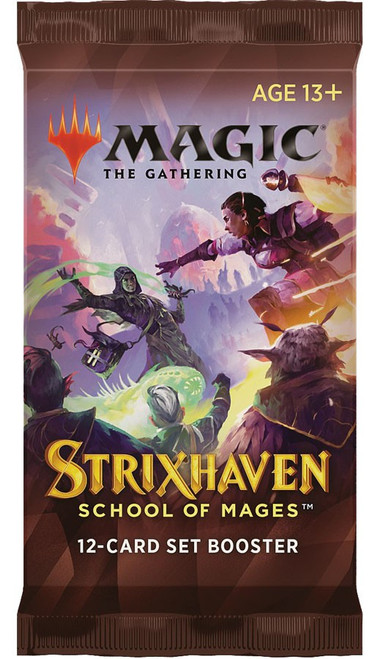 MtG Trading Card Game Strixhaven: School of Mages SET Booster Pack [12 Cards]