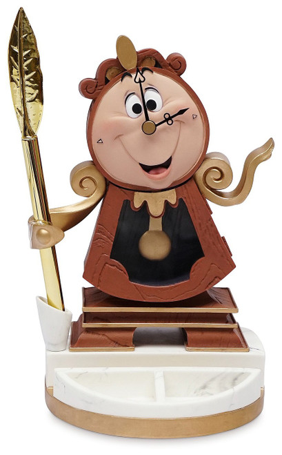Disney Beauty and the Beast Cogsworth Desk Clock with Pen Exclusive