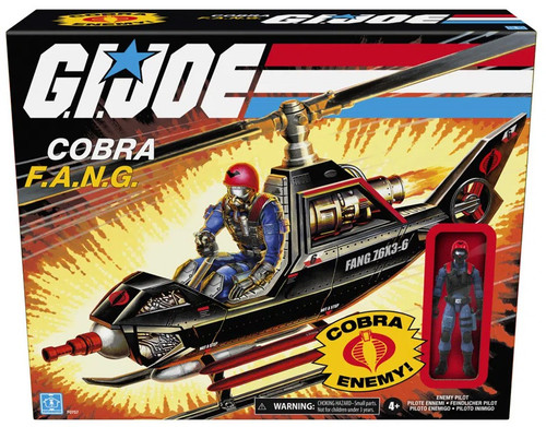GI Joe Retro Collection Cobra F.A.N.G. Copter & Pilot Exclusive 3.75-Inch Vehicle