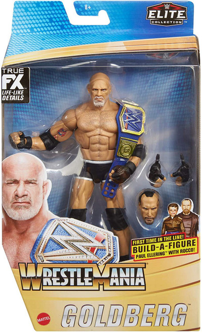 WWE Wrestling Elite Collection WrestleMania Goldberg Action Figure [Universal Championship & Paul Ellering & Rocco Build-A-Figure Piece!]