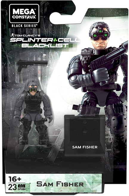 Mega Construx Splinter Cell Blacklist Black Series Sam Fisher Mini Figure