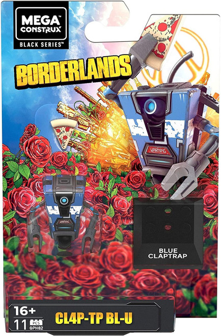 Mega Construx Borderlands Black Series CL4P-TP BL-U Mini Figure