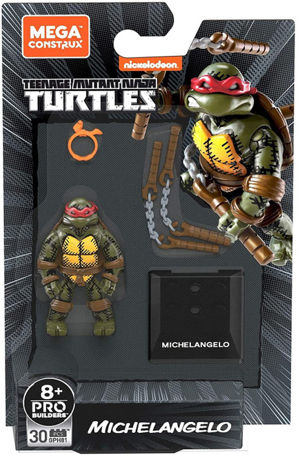 Mega Construx Teenage Mutant Ninja Turtles Black Series Michelangelo Mini Figure