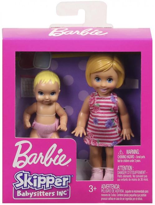 Barbie Skipper Babysitters Inc Baby & Toddler Mini Doll 2-Pack [Blonde, Floral Dress]