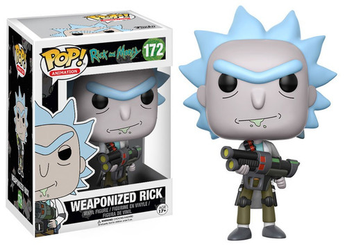 Funko Rick & Morty POP! Animation Weaponized Rick Vinyl Figure #172 [Closed Mouth, Regular Version, Damaged Package]