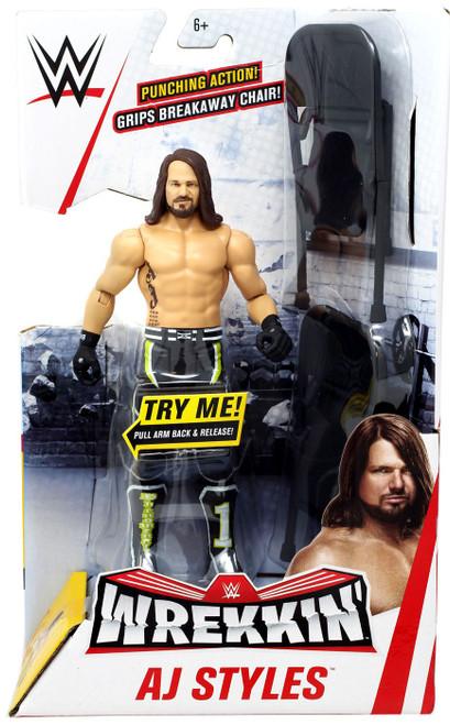 WWE Wrestling Wrekkin' AJ Styles Action Figure [Damaged Package]