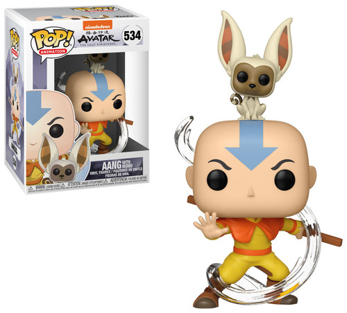 Funko Avatar The Last Airbender POP! Animation Aang With Momo Vinyl Figure #534 [Damaged Package]