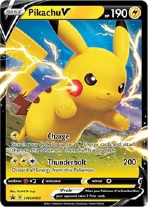 Pokemon Sword & Shield Promo Ultra Rare Pikachu V SWSH061 [Oversized]