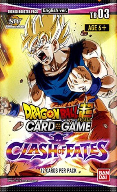 Dragon Ball Super Trading Card Game Series 3 Clash of Fates Theme Booster Pack DBS-TB03 [12 Cards] (Pre-Order ships April)