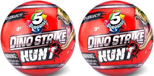 5 Surprise Dino Strike Series 3 LOT of 2 Mystery Packs