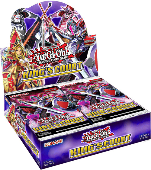 YuGiOh Trading Card Game King's Court Booster Box [24 Packs] (Pre-Order ships July)